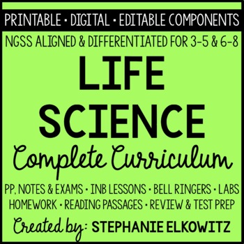 NGSS Life Science Biology Curriculum