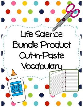 Life Science Cut-n-Paste Vocabulary (Bundle Product)