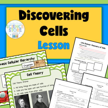 Life Science- Discovery of Cells PowerPoint, Notes, Worksh