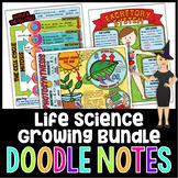 Life Science Doodle Notes Growing Bundle | Science Doodle Notes
