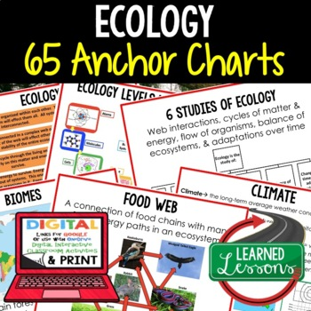 Life Science Ecology 65 Anchor Charts