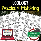 Ecology Puzzles Digital Interactive Notebook with Google L