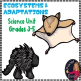 Life Science Ecosystems and Adaptations grades 3-5 unit plan
