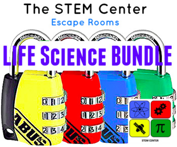 Life Science Escape Room Bundle: Body System 1 & 2, Cells & Genetics