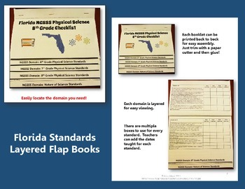 "Life Science Florida Standards ""I Can"" Posters, Checklists, & Flap Book Bundle"