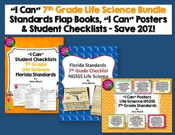 """Life Science Florida Standards """"I Can"""" Posters, Checklists"""