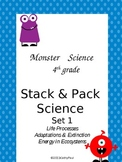 Life Science Grade 4 Stack & Pack Set 1 Monster theme