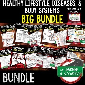 Body Systems, Healthy Lifestyle, Diseases BUNDLE  (Life Science Bundle)