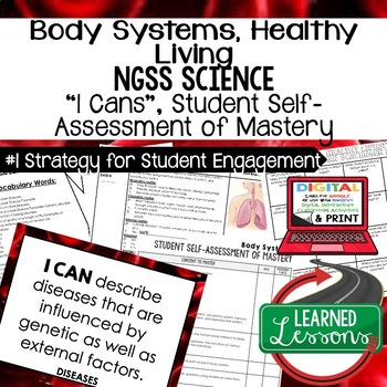 Life Science Healthy Lifestyle and Body Systems Self Assessment I Cans