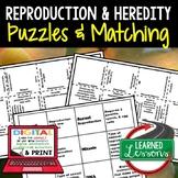 Heredity & Reproduction Puzzles Digital Interactive Notebo