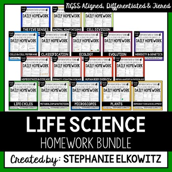 Life Science Homework Bundle