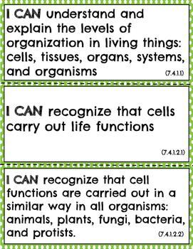 Life Science - I Can Statements - Grade 7 - Minnesota