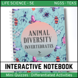 Animal Diversity: Invertebrates - Life Science Interactive Notebook