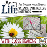 Life Science Interactive Notebook BUNDLE with Reading Passages