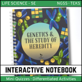 Genetics The Study of Heredity Science Interactive Notebook - Distance Learning