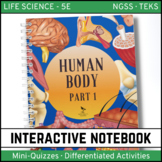 Human Body Science Interactive Notebook - Part 1 - Distance Learning