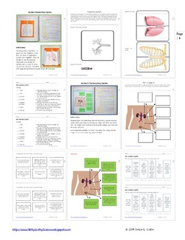 Human Body Part 2: Life Science Interactive Notebook