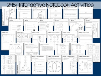 Intermediate Life Science Interactive Notebook Bundle