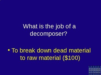 Life Science Jeopardy - Great Review for Test!
