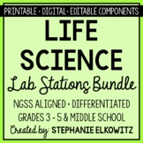 Life Science Biology Lab Stations Bundle