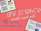 Life Science Marble Word Wall {NGSS Aligned}