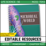 The Microbial World: Life Science Notes, PowerPoint & Test ~ EDITABLE