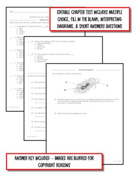 Cell Structure and Function: Life Science Notes, PowerPoint and Test ~ EDITABLE!