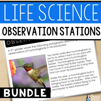 Life Science Observation Stations BUNDLE {Distance Learning and Printable}