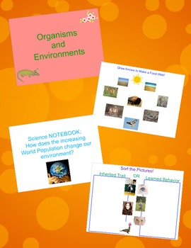Life Science (Organisms and Environments) Interactive Whiteboard Review