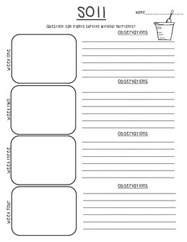 Life Science Plant Observation Note-takers