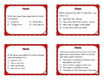 Plants, Animals and Cells Task Cards