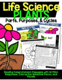 Life Science: Plants {Parts, Purposes, Adaptations, & Cycles}