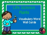 Life Science parts of a plant Vocabulary Word Wall Cards