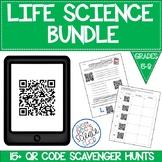 Life Science QR Code Scavenger Hunts Bundle