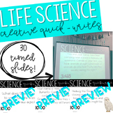 Life Science Quick-Write Slides with Timers!