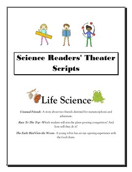 Life Science Readers Theater Scripts - SET OF 3