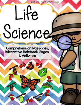 Life Science Reading Comprehension & Interactive Notebook