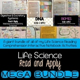 Life Science Interactive Notebook Read and Apply MEGA BUNDLE