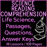 Life Science Reading Comprehension Passages & Questions |