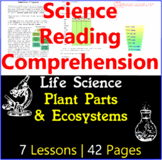 Life Science Passages & Comprehension | Plant Parts & Ecosystems | Gr5-6