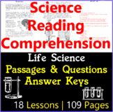 Life Science Reading Comprehension Questions & Passages |