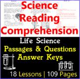 Life Science Reading Comprehension Questions & Passages | Bundle | Gr5-6