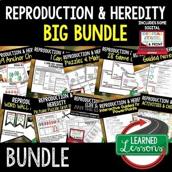 Life Science Reproduction & Heredity BUNDLE  (Life Science