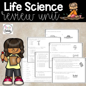 Life Science Review Unit, Basic needs, Plant & Animal characteristics,