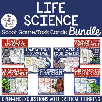 Life Science Scoot Games/Task Cards BUNDLE