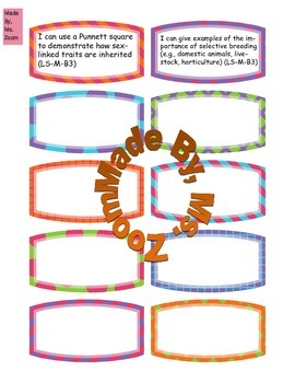 Life Science Standard Cut-Outs!