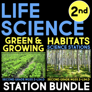 Life Science Stations - Second Grade Science Stations - Next Generation BUNDLE