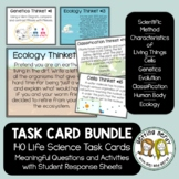 Life Science Biology Task Cards Bundle