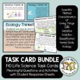 Life Science Task Card Bundle - Distance Learning + Digita