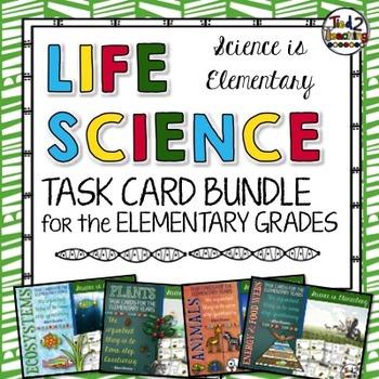 Life Science Task Card Bundle